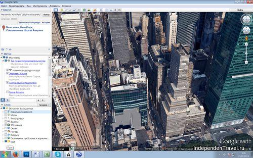 каменные джунгли Манхэттена с высоты причьего полета