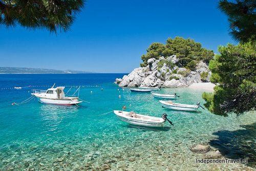 пляж Liskamen, Брела, Хорватия