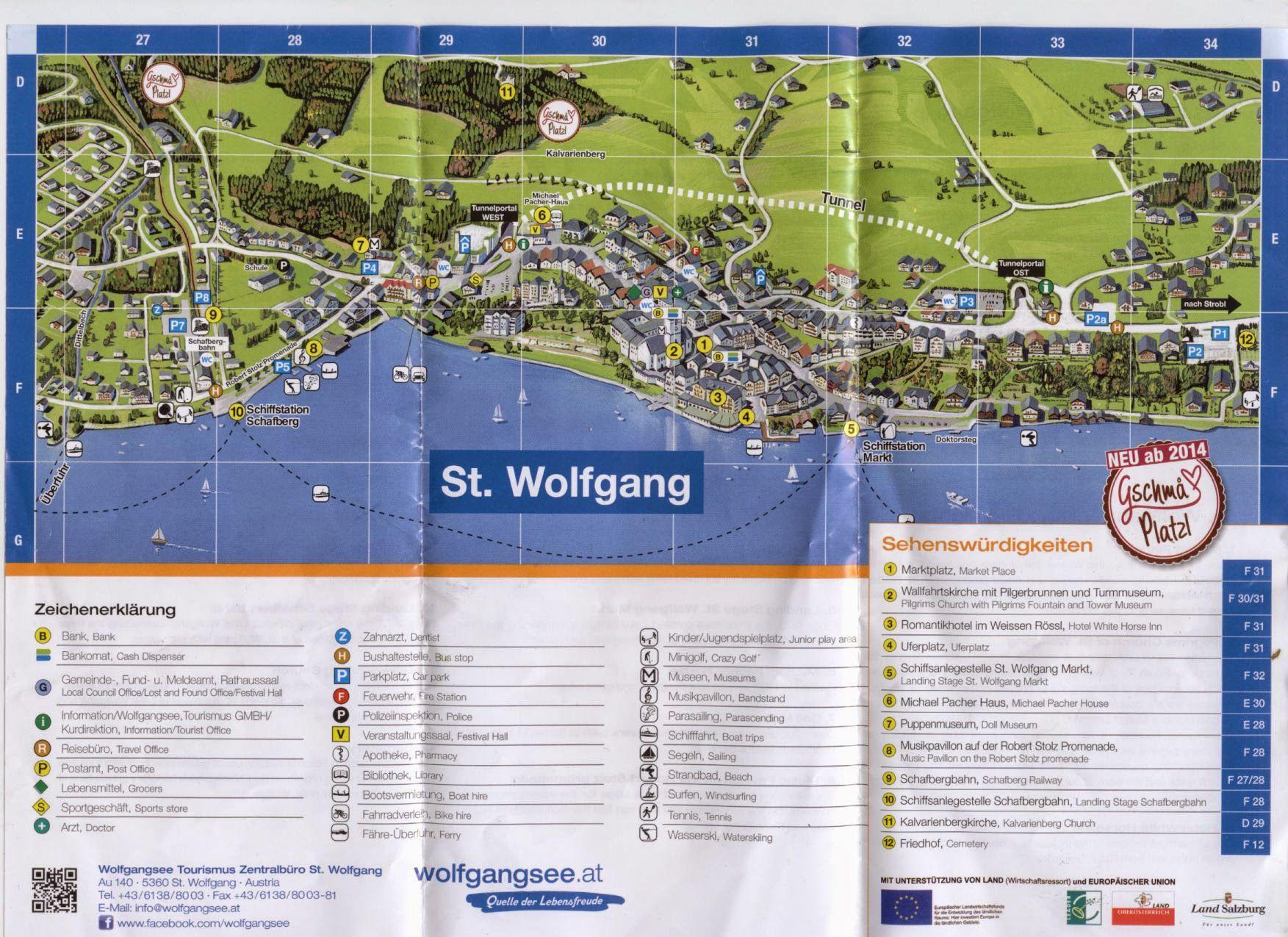 Карта Санкт Вольфганг, Австрия