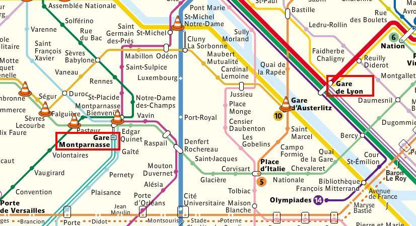 Gare de lyon, montparnasse