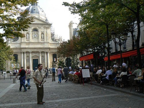Латинский квартал, площадь Сорбонна