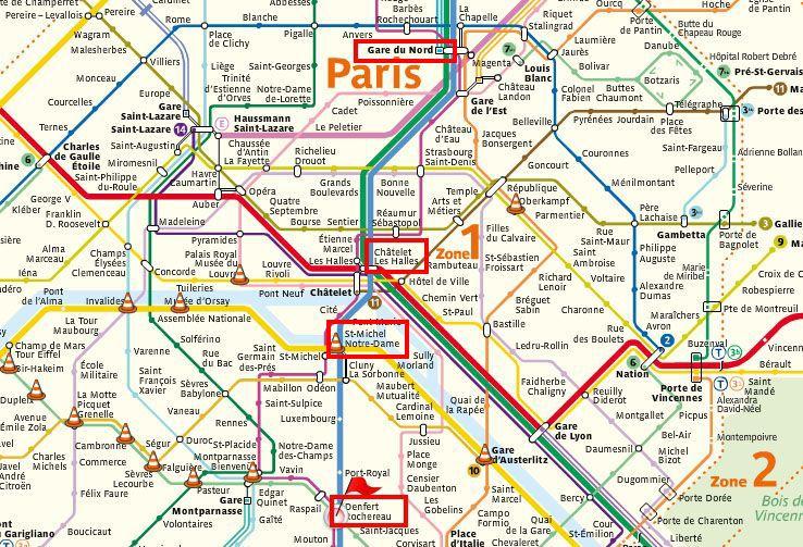 Схемы вокзала в париже