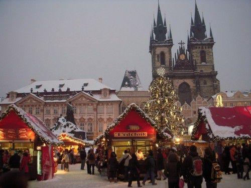Рождественский рынок в Праге