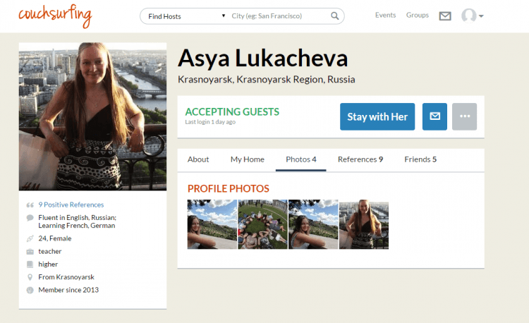 Asya Lukacheva's Photos - Couchsurfing.clipular