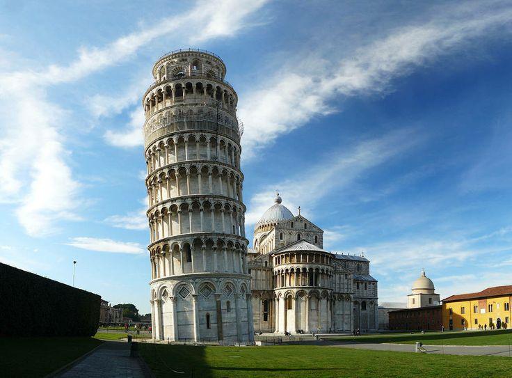 Знаменитая Пизанская башня