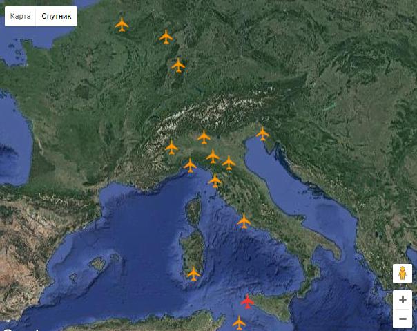аэропорты сицилии