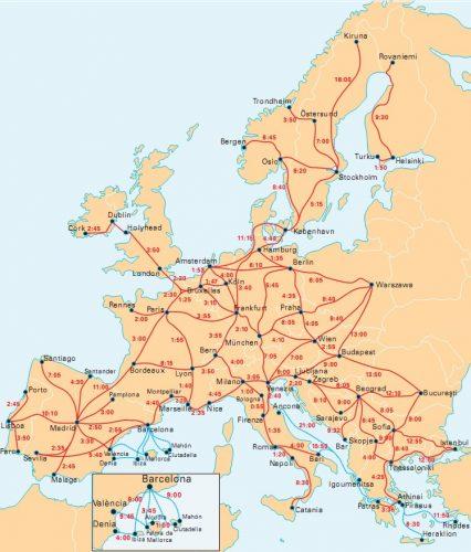 поезда в европе
