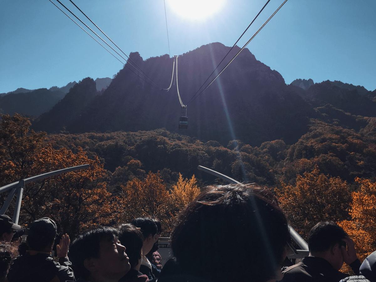 Фуникулер в национальном парке Сораксан
