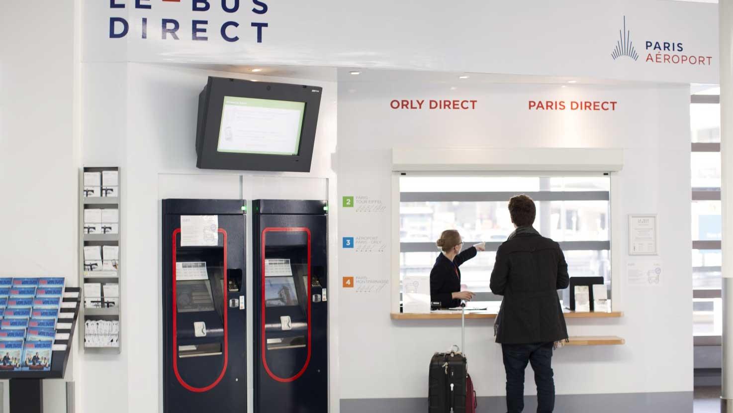Стойка продажи билетов Le Bus Direct