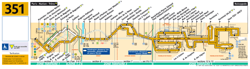 Схема маршрута автобуса 351