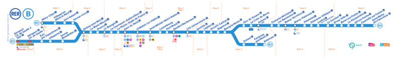 Шарль-де-Голль RER B маршрут
