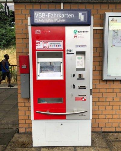 автомат для покупки билетов берлин