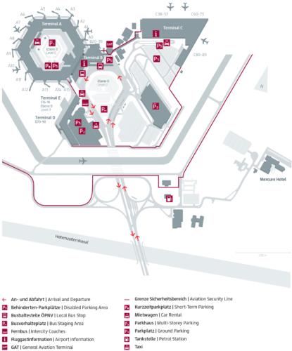 Тегель - план аэропорта