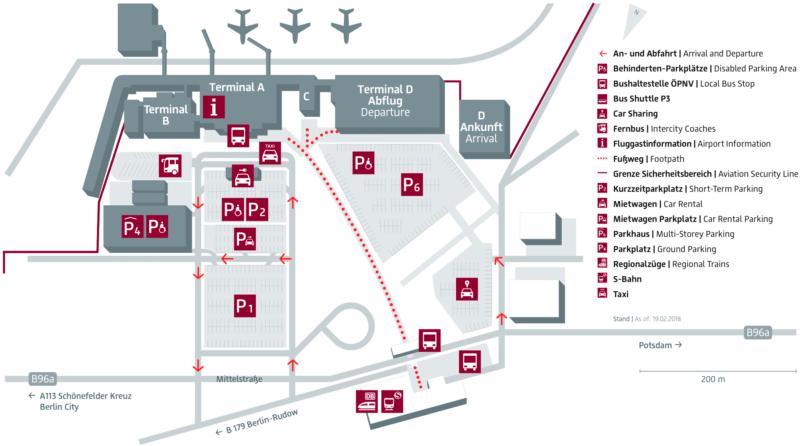 Схема аэропорта Шененфельд