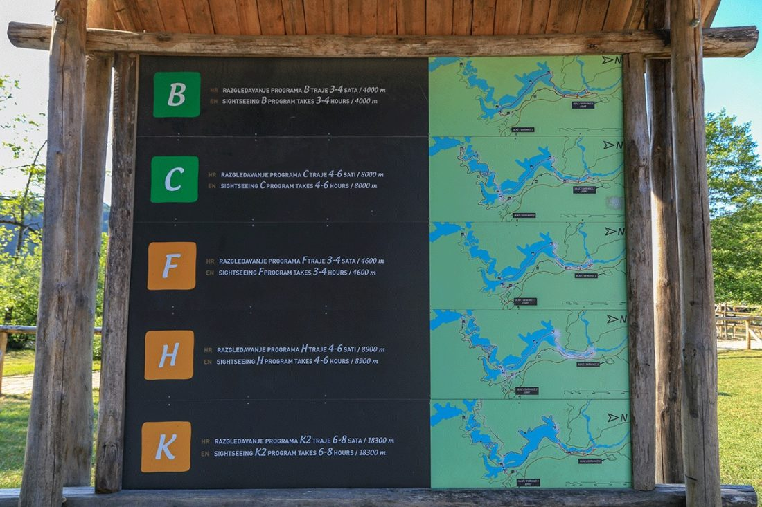 Маршруты Плитвицких озер