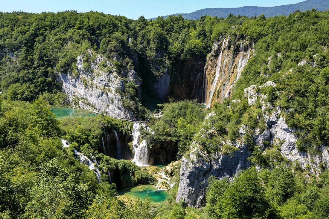 Самый большой водопад Плитвицких озер