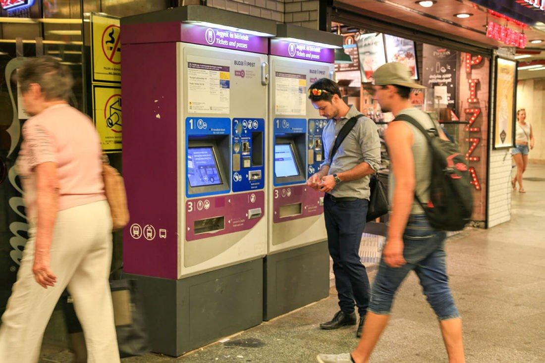 Автомат по продаже билетов в метро Будапешта
