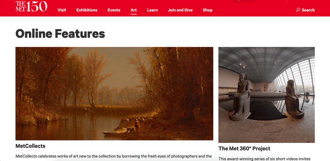 Посещение онлайн Метрополитен-музея